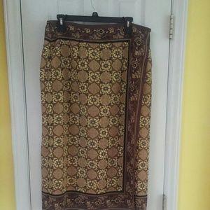 Sag Harbor Mock Wrap Skirt - 16W